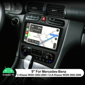 9 inch for Mercedes-Benz W203 W209
