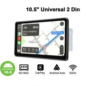 Joying Newest Arrival 10.5 Inch Double Din Car Navigation System With Android Auto & CarPlay