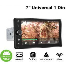 "New Arrival 7"" Single Din Android Auto Car Stereo Universal Head Unit with Physical Button"