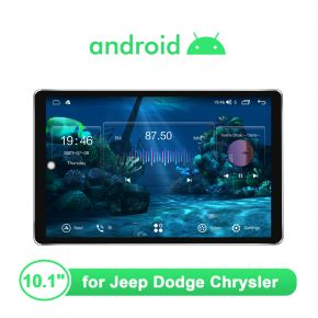 """Ultra-Thin Screen 1280*800 Head Unit 10.1"""" For Jeep Dodge Chrysler Plug and Play"""