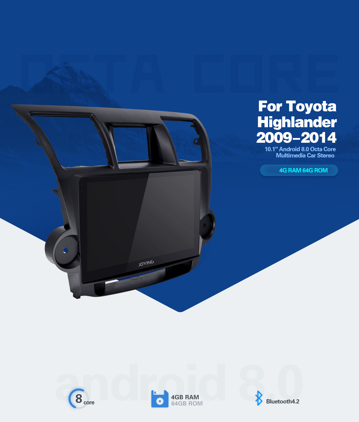 Joying Android 80 Toyota Highlander 2009 2014 Car Audio System 2010 Kluger Fuse Box Location If You Are Not Sure Whether The Unit Can Fit Your Carplease Send Modelyear And Dashboard Picture To Info Or Support