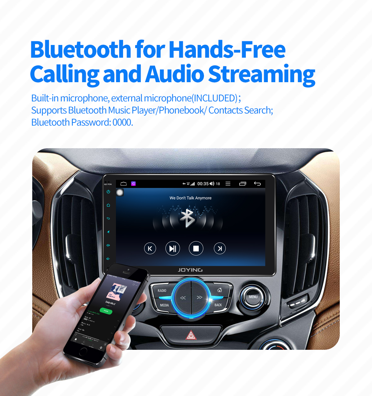 Joying Latest 9 Inch Single Din Android 8 1 0 Car Stereo with Built-in DSP  And 4G Module