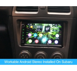 Workable Android Stereo Installed On Subaru