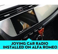 Joying Android Head Unit Installed On The Alfa Romeo