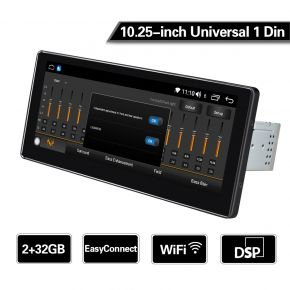 10.25 single din car stereo