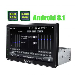 Newest 8 Inch Single Din Android 8.1.0 Oreo Car Sound System Touch Screen Head Unit 4GB/64GB