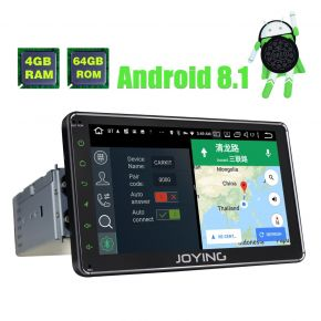 Joying Newest Android 7 Inch Single Din Octa Core 4GB/64GB Car GPS Navigation System with DSP