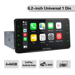 6.2 inch single din with 64gb