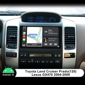 Joying 2004-2009 Toyota Land Cruiser Prado 9 Inch Android 10.0 Car Stereo Built-In DSP
