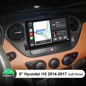 Joying 9 Inch Hyundai i10 Touch Screen Head Unit 2014-2017 Built-in 4G Module
