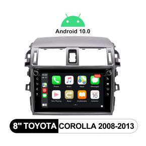 JOYING Android 10.0 Car Stereo for Toyota Corolla 2008-2013 with 8 Inch IPS Screen