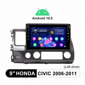 Joying Android 10.0 Car Radio System For Honda Civic 2006-2011 Support Factory SWC