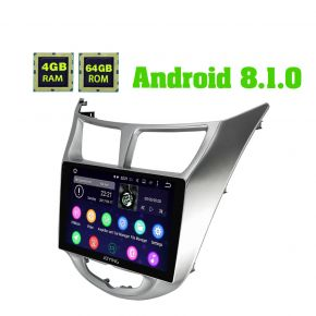 Hyundai Verna 2010 - 2015 Android 8.1.0 Octa Core Car Navigation System 4GB+64GB
