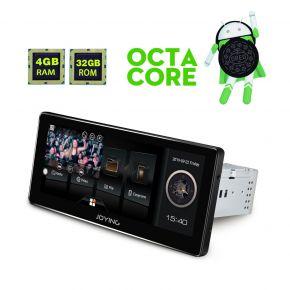 Joying 8.8 Inch Single Din Android Auto Carplay  Car Radio Head Unit Support 4G Internet