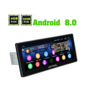 Joying 10.25 Inch Single Din Android 8.0 Oreo Car Sound System Upgrade 4GB/32GB