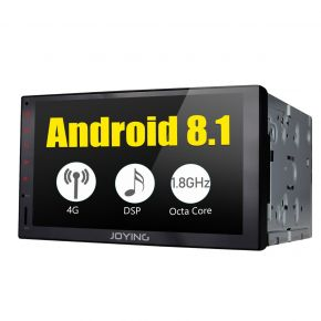 JOYING 7 Inch Double Din Android 8.1.0 Car Audio System with Built-in 4G Module