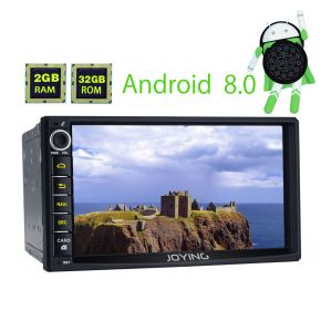 Joying Hot Sale 7 Inch Double Din Android 8.0 Oreo Car GPS Navigation System Touch Screen Head Unit With Bluetooth