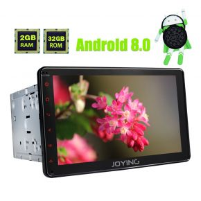 Joying PX5 Octa Core Android 8.0 Double Din Head Unit 8 Inch Touch Screen Navigation System For Universal