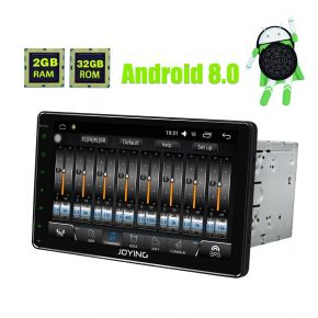 Joying 9'' Double Din Android 8.0 Oreo Octa Core Car Sound System with Digital Amp