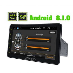 JOYING Germany Warehouse Android Auto Car play Single Din Car Stereo with 4G Module