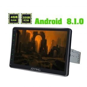Joying US Warehouse Android 8.1.0 Big Screen Single Din Car Head Unit with 4G SIM Card Slot