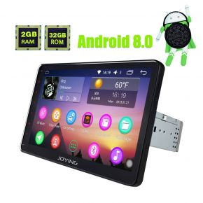 Joying Latest Android 8.0 Oreo Single din Car Play Stereo Upgrade With Built-in Google Map