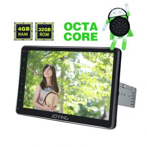 Joying US Warehouse 10.1'' Big Screen Single Din Android 8.0 Car Media Player with Bluetooth