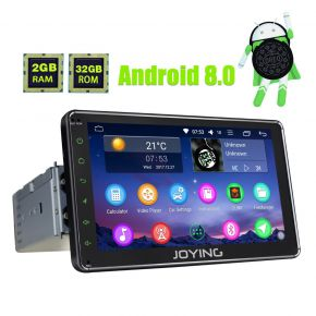 Joying 7 Inch Single Din Android 8.0 Octa Core Car Radio Stereo Upgrade 2GB/32GB Touch Screen Head Unit