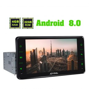Joying US Warehouse 6.2 Inch Android 8.0 Single Din Car Stereo Upgrade 4GB+32GB