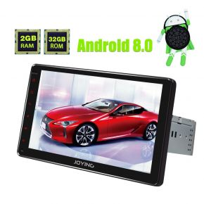 Joying Newest Android 8.0 Oreo 9 Inch Single Din Car Radio with Build In Digital Amplifier
