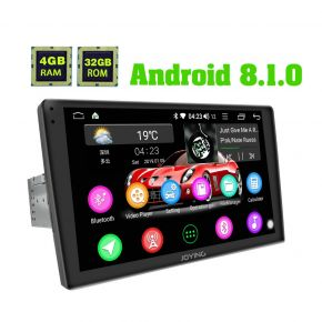 Joying 9'' single din 2.5D Curved Screen Android 8.1.0 Car Sound System with Built-in DSP