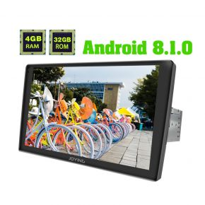 Joying 9 Inch 2.5D Curved Screen Android 8.1.0 Car Multimedia Player with Built-in 4G Module