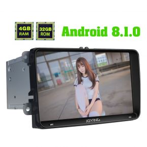 Joying 9 Inch Android 8.1.0 VW Plug And Play Car Navigation System with 4G SIM Card