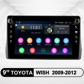 JOYING 9 Inch Toyota Wish 2009-2012 Plug and Play Aftermarket Android Audio Player with Built-in Bluetooth