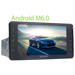 Joying 6.2 Inch Single Din Android Car Sound System Touch Screen Bluetooth Head Unit for Sale