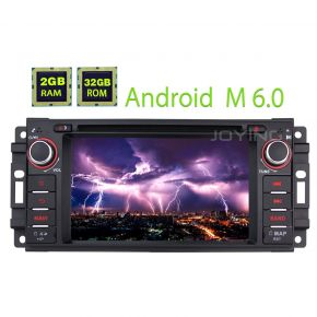 Jeep Wrangler Dodge Android 6.0 Car Stereo Navigation System 2GB/32GB Head Unit Replacement