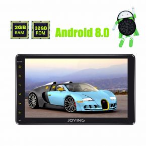 Joying Germany Warehouse Android 8.0 Oreo System 8 Inch Double Din Car Stereo With 2GB+32GB