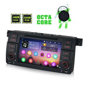 Android Auto Head Unit Replacement For BMW 3 Series E46 Support Video Output