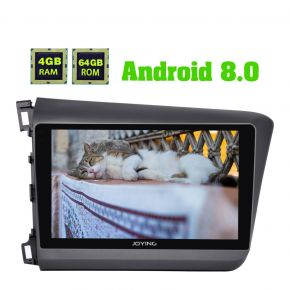 Joying Honda Civic 9 Inch Android 8.0 Octa Core Car Sound System 4GB+64GB for Left Drive