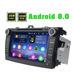 Joying Aftermarket Toyota Corolla Android 8.0 Car Sound System Head Unit with Bluetooth