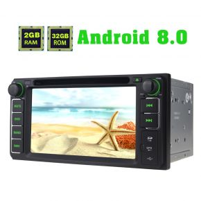 Joying 6.2 Inch Toyota Android 8.0 Touch Screen Car Sound System support Video Output