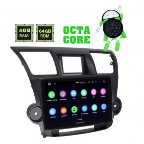 Joying Android 8.0 Toyota Highlander 2009 - 2014 Car Audio System Head Unit Support Video out