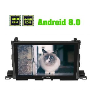 2015 - 2017 Toyota Highlander Android 8.0 Octa Core 10.1 Inch IPS Screen Car Stereo Upgrade 4GB/64GB