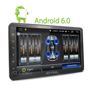 Joying 10.1 Inch Android Single Din Adjustable Car GPS Navigation System with Digital AMP