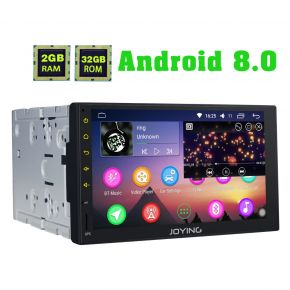 Joying Universal 7 Inch Double Din Octa Core Android 8.0 Car Sound System Auto Radio for Sale