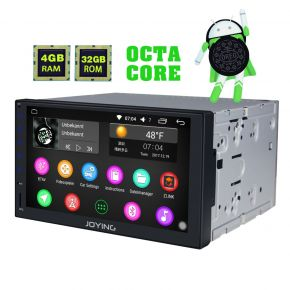 Germany Warehouse 7'' Double Din Android 8.0 Touch Screen Head Unit with Bluetooth