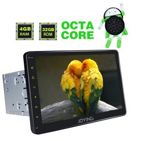 Joying US Warehouse 10.1'' Big Touch Screen Android 8.0 Octa Core Car Stereo Upgrade 4GB/32GB