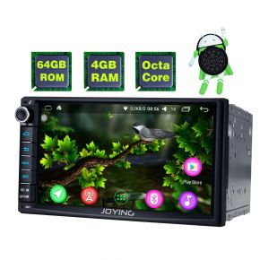 Joying Newest Android 8.0 Oreo Double Din Car Audio System Head Unit with 4GB/64GB