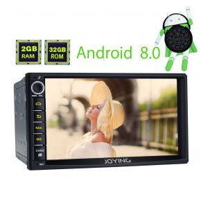 Joying EU Warehouse 7 Inch Double Din Car Music System Android 8.0 Octa Core PX5 Stereo Upgrade 2GB/32GB