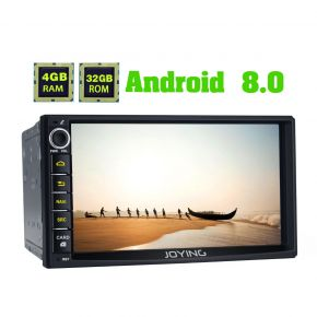 Joying Latest Android 8.0 Octa Core 7 Inch Double Din Car Sound System Head Unit